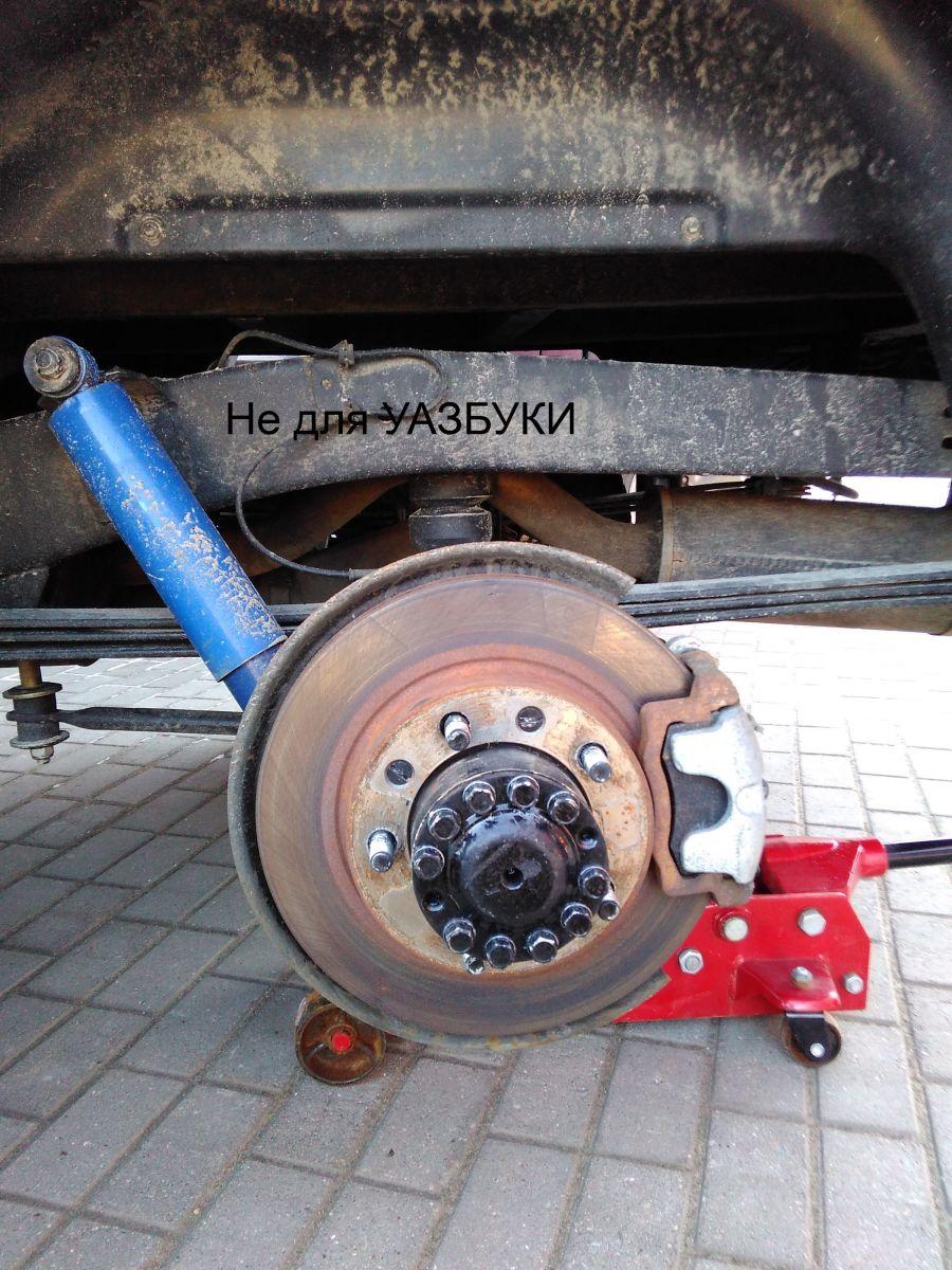 Задние дисковые тормоза УАЗ Патриот 2015 года выпуска.