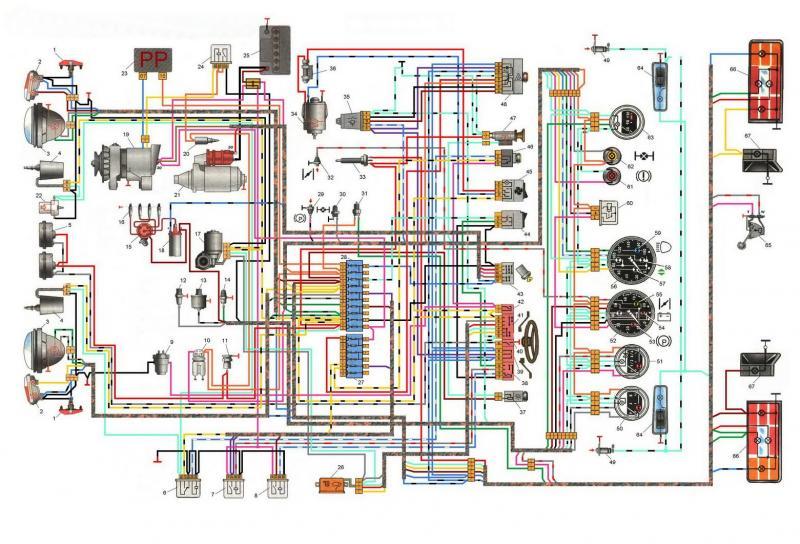 Схема проводки Ваз 2121