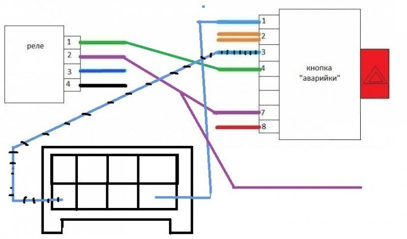 схема подключения реле вместо