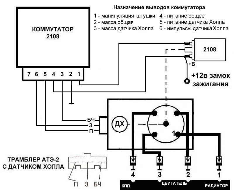 Схема подключения АТЭ-2